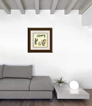 You Have Enough, Enjoy Life - Chinese Philosophy Painting living room view