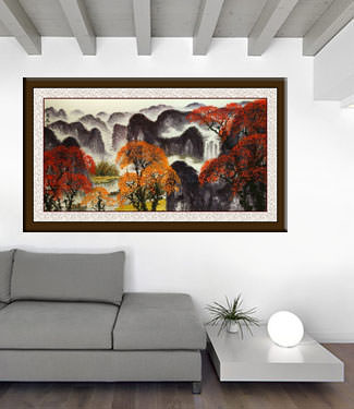 Huge Li River Landscape Painting living room view