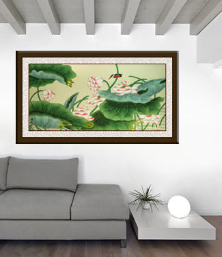 Large Colorful Dragon Painting living room view