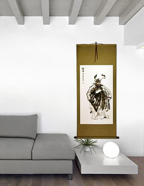 Zhong Kui Ghost Warrior - Wall Scroll living room view