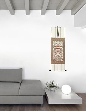 Buddhist Altar Wall Scroll living room view