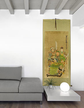 Three Brothers - Partial-Print Wall Scroll living room view