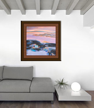 Colorful Suzhou - Chinese Venice Landscape Painting living room view