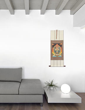 Buddha Altar Print - Wall Scroll living room view