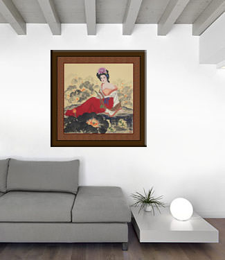 Chinese Beautiful Woman Painting living room view