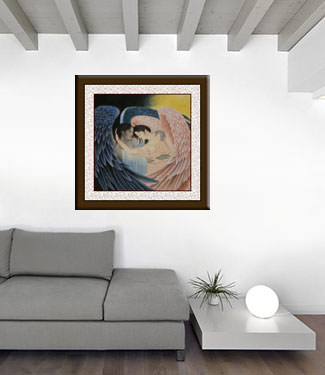 Angels Embrace - Custom Painting living room view
