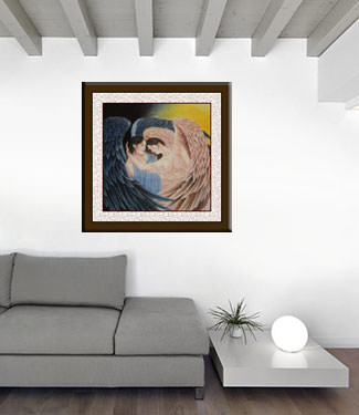 Angel Wings Embrace Painting living room view