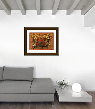 Bugles of the West - Chinese Folk Art Painting living room view