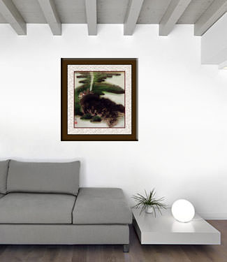 Village Landscape Painting living room view