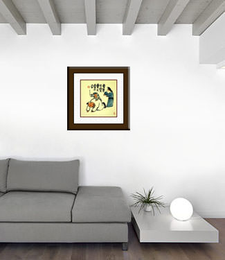The Mighty Army General - Ancient Chinese Philosophy Art living room view