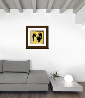Three Men Share Wisdom / Knowledge - Chinese Philosophy Art living room view