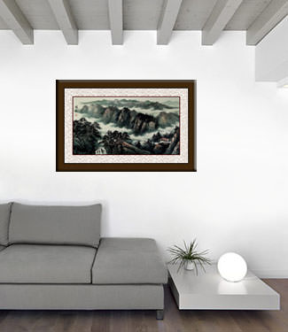 Guilin Li River - Chinese Landscape Painting living room view